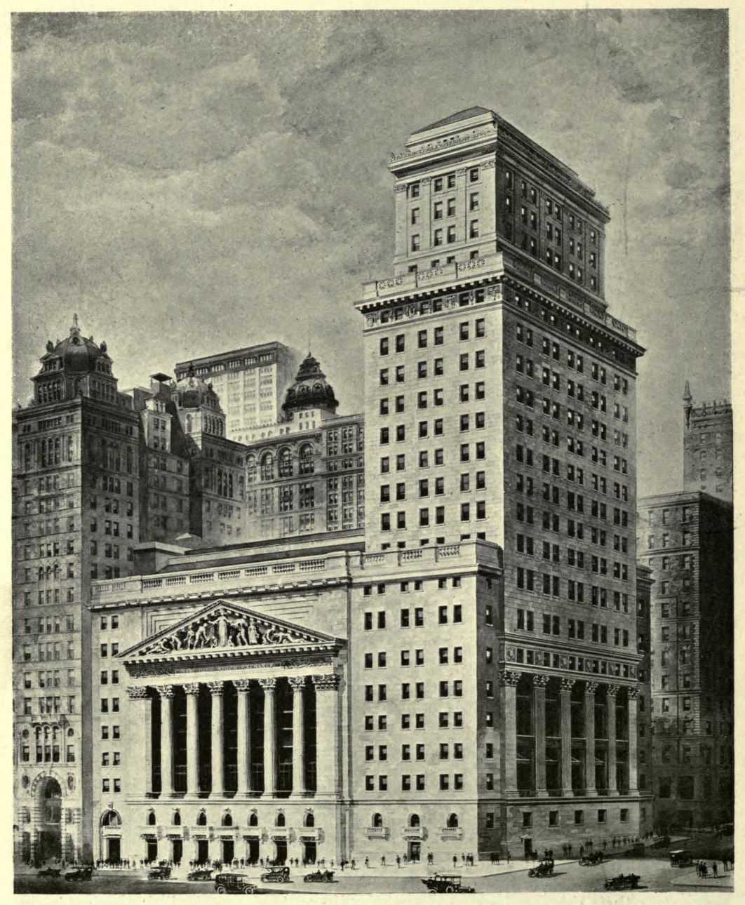 A projected addition to the New York Stock Exchange, New York City