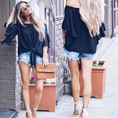 "🌼 City Chic Off Shoulder Top🌼Take 25% Off NOW w/code: ""FIERCE""💗 Click Link In Bio .