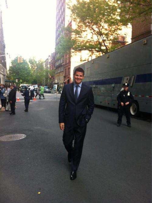 mystyca:  David Boreanaz at the FOX Upfront in NY.