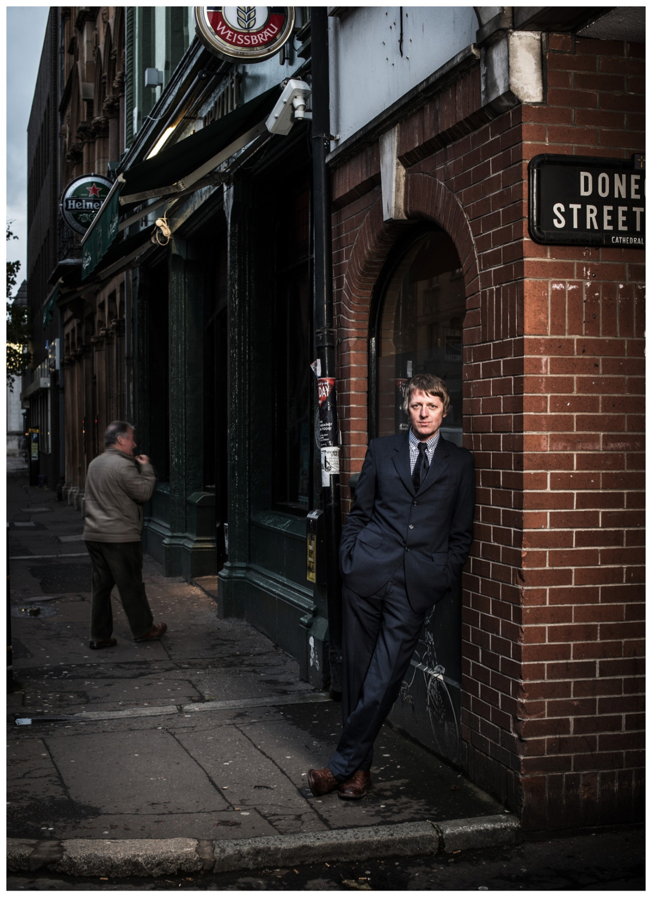 Novelist Glenn Patterson, outside The John Hewitt in Belfast.  Photo by Andrew Shaylor.