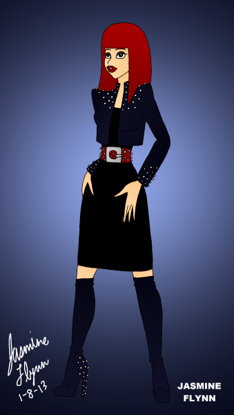 Rhinestone Outfit. a digital drawing by me, Jasmine Flynn :)