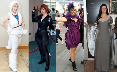 Here are the four costumes I started constructing in 2012! I'm very busy and I don't make a lot of costumes every year; I work when I get inspired, and besides, I'm constantly updating older costumes, too. In fact, Effie Trinket is the only one of these that ISN'T still a work in progress!Naga - Fanime - Photo by Fremen Photog Black Widow - Avengers midnight showing, Free Comic Book Day, SDCC - Photo by Fremen PhotogEffie Trinket - SDCC - Photo by Kevin AllenArwen - The Hobbit midnight showing - Photo by The Watters Mark Photography