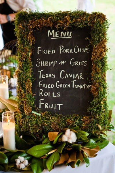 magnoliamerryweather:  (via South / southern wedding menu.)