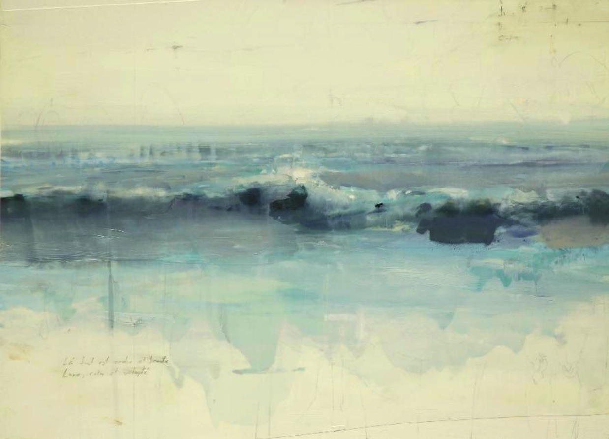 Alex Kanevsky -Waves,   (oil & mylar) ( via andrewjacksonwells)