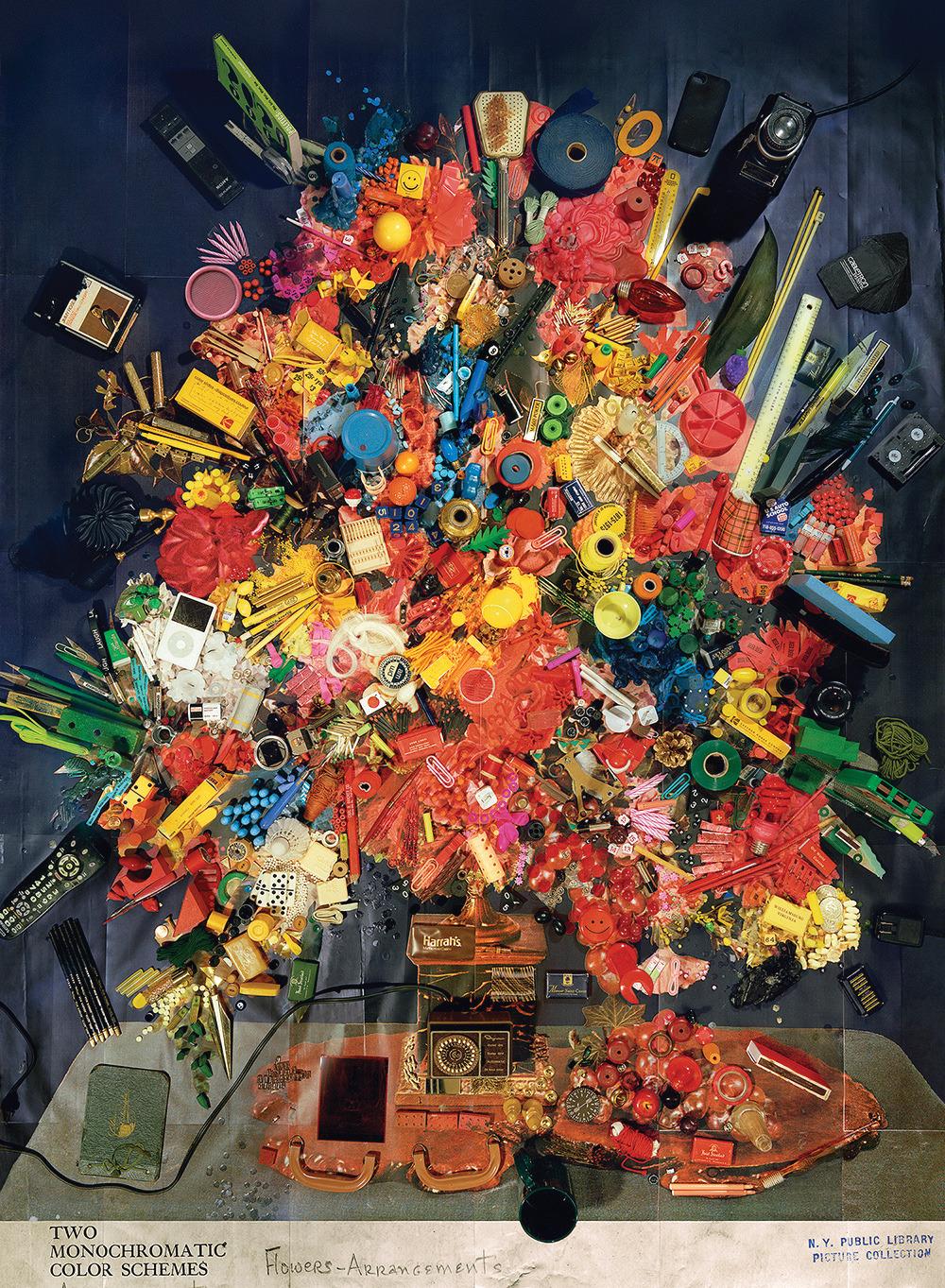 Contemporary Floral Arrangement 4 (Two Monochromatic Color Schemes),2014