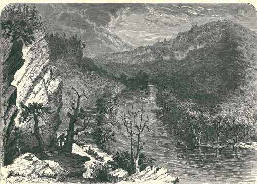 Petersburg Gap Picturesque America Wood Engraving  Antique Art Print 1895 at CarambasVintage http://etsy.me/ZBub3N