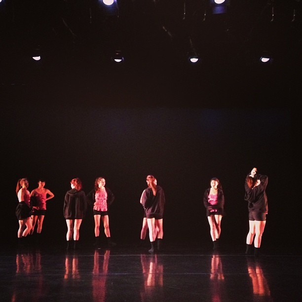 Tech rehearsal. #dancepeople #thedancecenter #columbiacollege