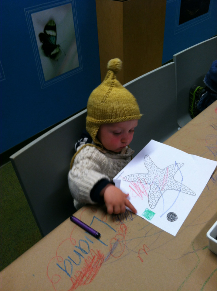 Coloring at the academy of science.