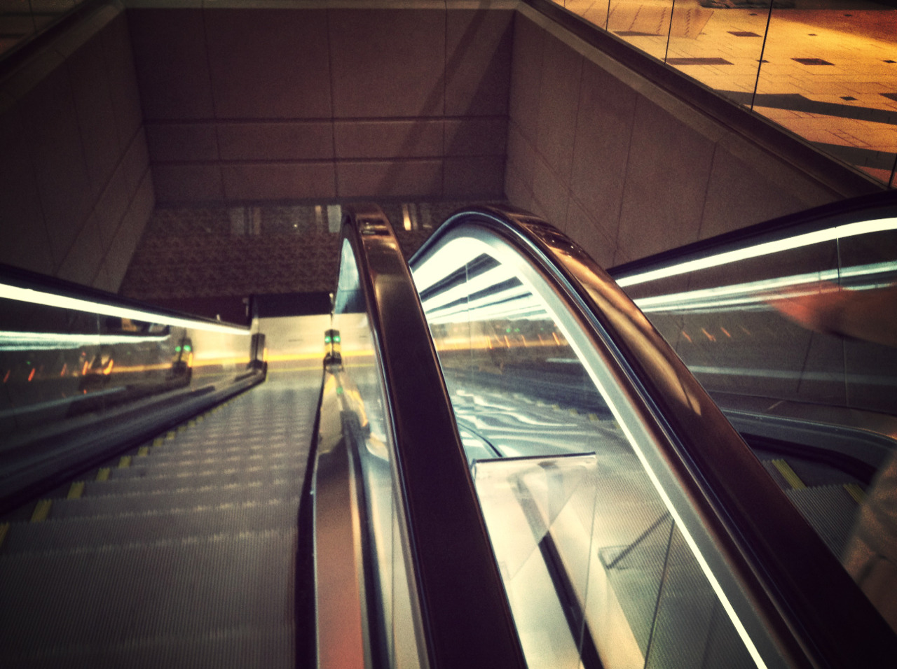 One of my favorite pictures that I have taken. An escalator in a Phoenix airport.