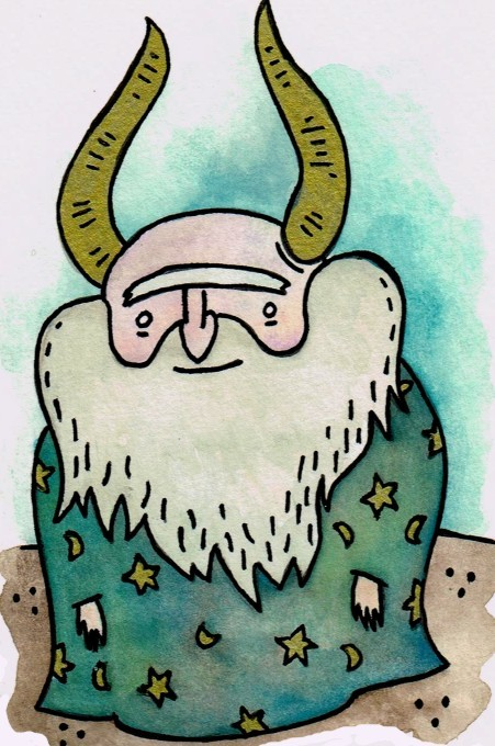 i painted this friendly wizard today. i named him bernard.
