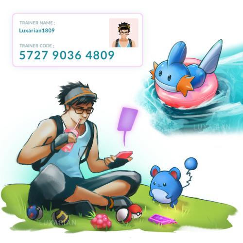pokemon pokemongo fanart mudkip marill water pokemon water difital art my art floaties sketch pokeball