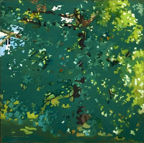 The Plane Tree (oil on canvas, 1964) – Fairfield Porter (American, 1907–75)