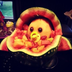 Say hello to the melon baby. #interesting