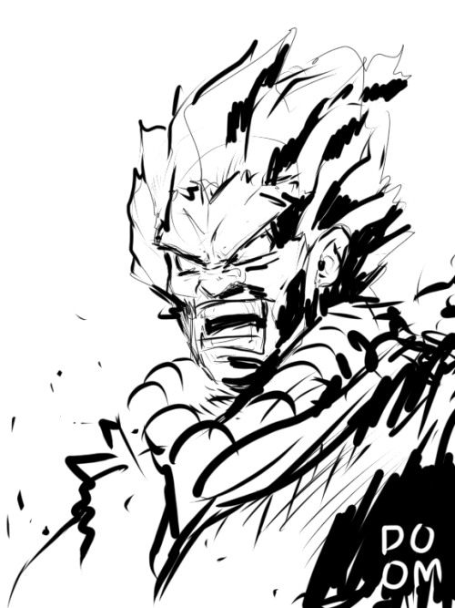Akuma sketch in Sketchbook Ink