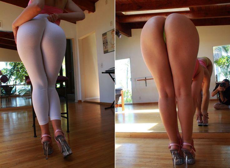 Girl real yoga pants ass