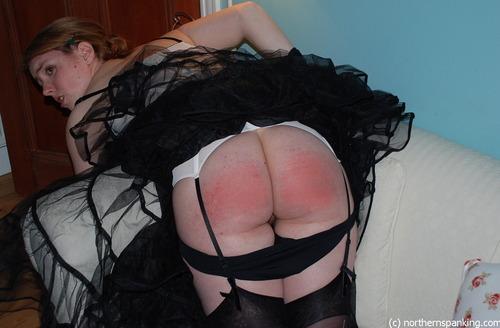 Lingerie spanking