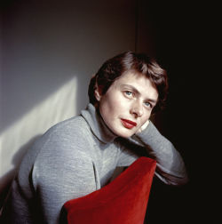 theniftyfifties:  Ingrid Bergman photographed by Chim, 1953