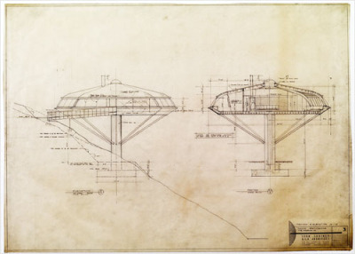 johnthing:  architectural sketch by john lautner who I am falling in love with…