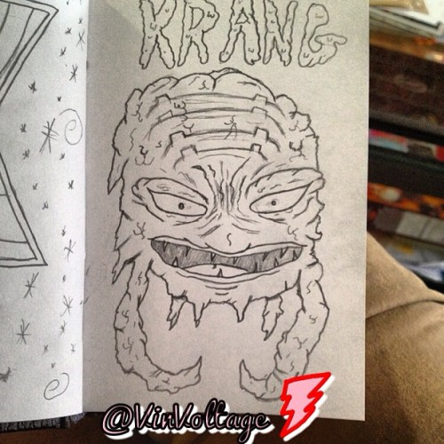 Everyone's favorite brain creature, #krang ! #tmnt #art #artwork #doodle #doodleart #sketch #cartoon