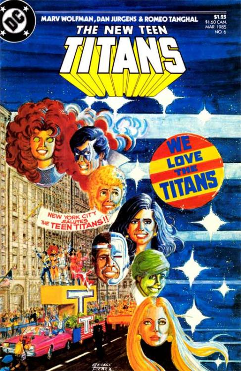 comicscomicsyeah:  Titansmania written by Marv Wolfman & George Perez Cover art by George Perez