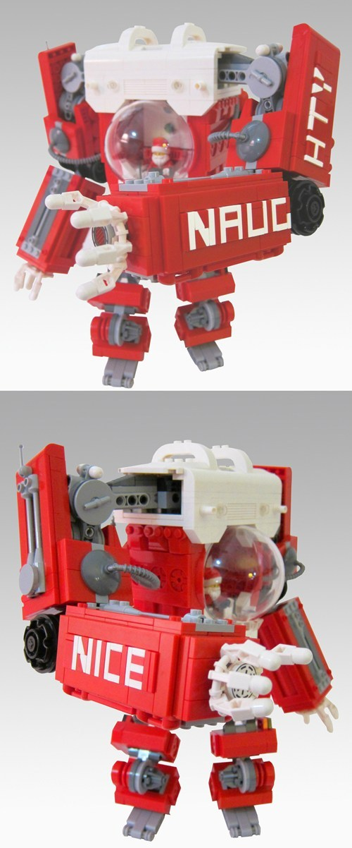 thedailywhat:  Awesome LEGO Creation of the Day  Mark Anderson's Santa Mech Suit means the reindeer get the night off!