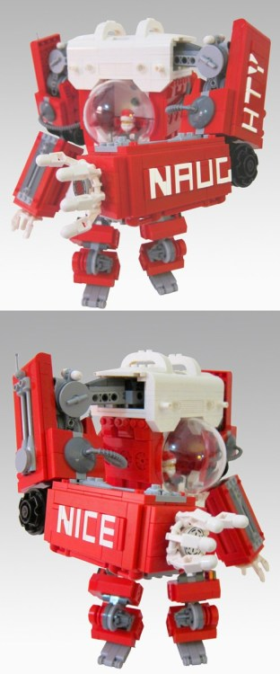 Awesome LEGO Creation of the Day  Mark Anderson's Santa Mech Suit means the reindeer get the night off!