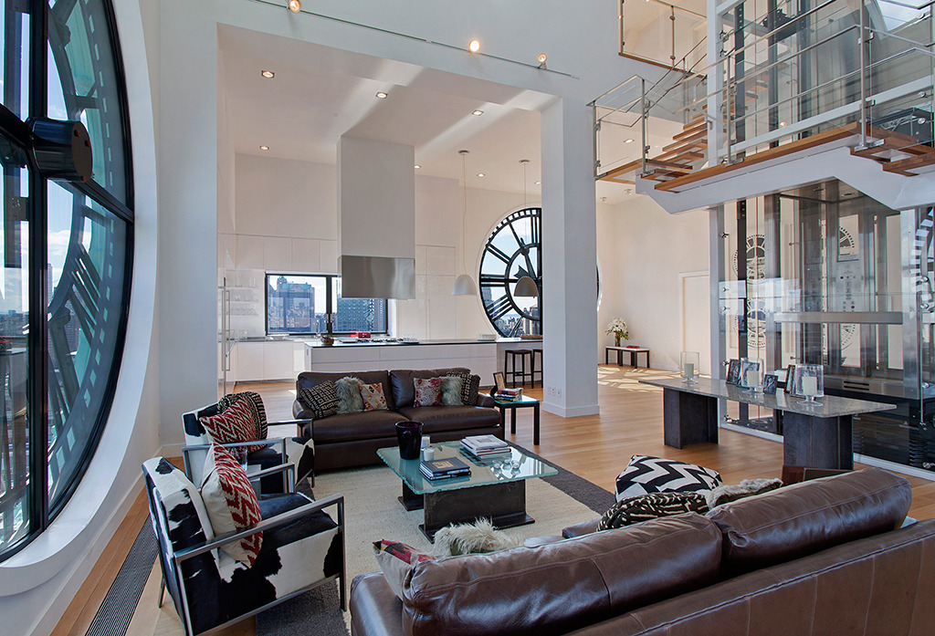 homedesigning:  Clock Tower Triplex Apartment in New York