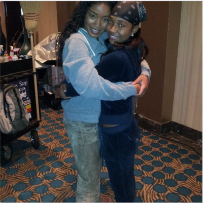 First Look:Keke Palmer + Chilli on the set of the upcoming VH1 TLC biopic. See more of Keke as Chilli here.