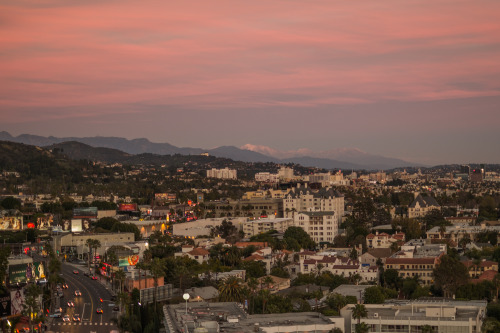 secondsminuteshours:  Travel moments - Sunset over Sunset Blvd. West Hollywood, CA - via marsbot