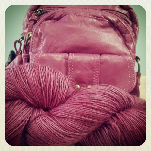 This Numma Numma yarn matched my bag perfectly… Of course I had to buy it! ^^