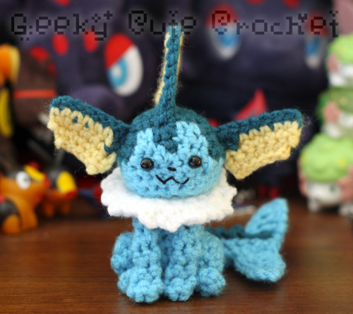 geekycutecrochet:  Vaporeon commission completed!