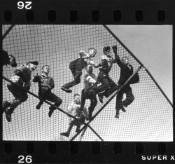 life:  Kids climb on a backstop, New Hampshire, 1954 — see more here. (Yale Joel—Time & Life Pictures)