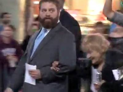 "nbcnews:  Zach Galifianakis pays rent for formerly homeless woman Zach Galifianakis' character, Alan, is always doing the unexpected in the ""Hangover"" movies — and the actor is apparently the same way in real life. Photo: Coleman-Rayner  