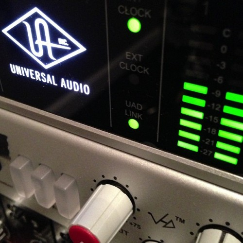New interface #universalaudio #apollo #recording #recordingstudio #onelouderstudio #cincinnati #recording (at One Louder Studio)