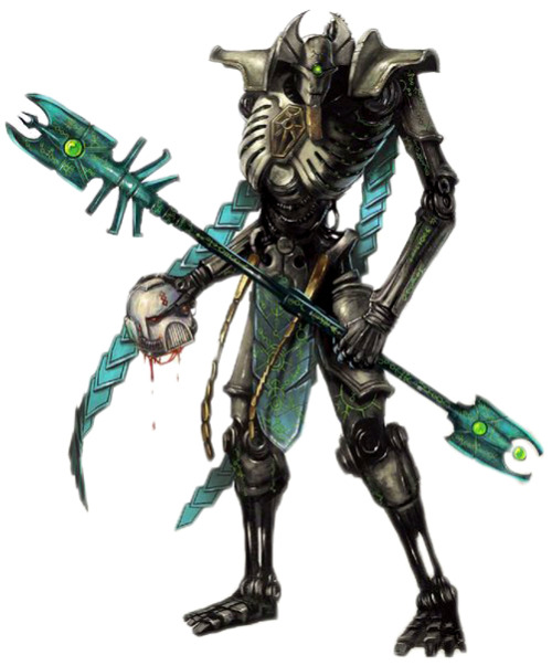 ironleviathan:  Necron Lord and Cryptek by Illmahnokh
