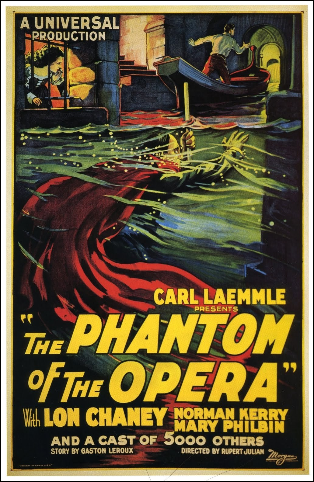 beautyandterrordance:  The Phantom of the Opera, 1925 Gregory Peck's earliest movie memory is of being so scared by The Phantom of the Opera at age 9 that his grandmother allowed him to sleep in the bed with her that night. (via)