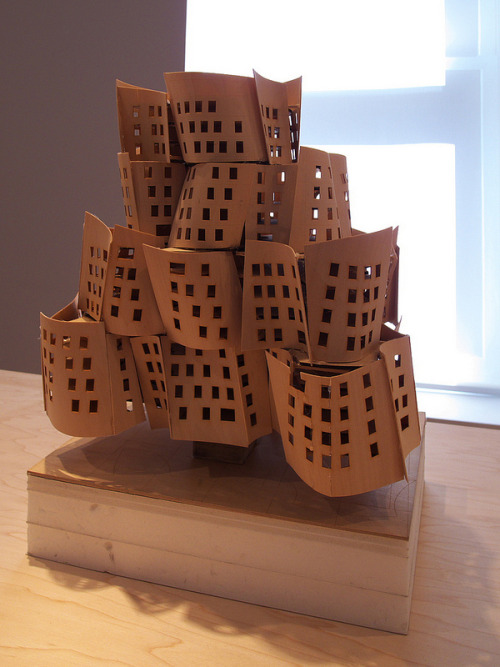 architectureland:  A selection of Frank Gehry process models will be on display at Leslie Feely Fine Art from April 11 to June 29, 2013. Drawn from significant constructions and concepts of the architect's prolific career, these organic forms stand as testament to Gehry's tactile approach, enhancing our perception of this sculptural architect and his work. Projects on view include the California Aerospace Museum and Theater (1984), the Winton Guest House (1987), the Chiat/Day Building (1991), the Barcelona Fish or Peix completed for the 1992 Summer Olympics, and the Beekman Tower/New York by Gehry at 8 Spruce Street (2011).