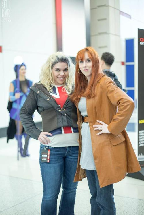 afullgrownteenwizkid:  doctor-who-companion:  fandomwarehouse:  Donna & Rose Cosplay @ C2E2  Best cosplays ever? They look so much like Billie and Catherine  so now we have a matt look-a-like, a billie, and a catherine….