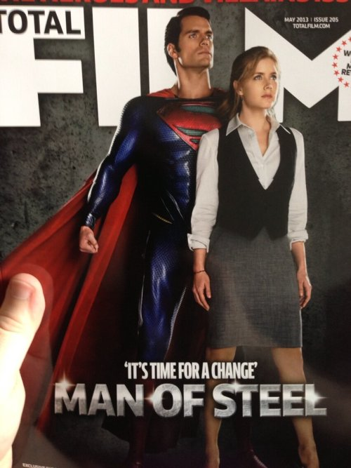 Amy Adams And Henry Cavill Grace (low-res) Total Film Cover For MAN OF STEEL | CBM