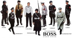 austinbass:  In 1931, Hugo Boss was contracted by Hitler's regime to design and manufacture uniforms for the SS, SA and Hitler Youth
