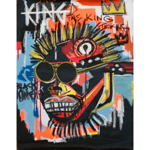 • THE KING • • TRIBUTE TO JEAN-MICHEL BASQUIAT • • THE YOUNG BLACK KING WHO GOT HIS HEAD CUT OFF •