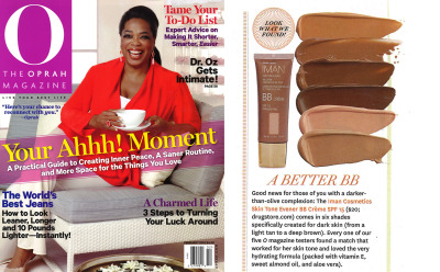 imancosmetics:  In the February issue of @O_Magazine, 5 testers tried our IMAN Skin Tone Evener BB Creme and each one of them found a match that worked perfect for their skin!