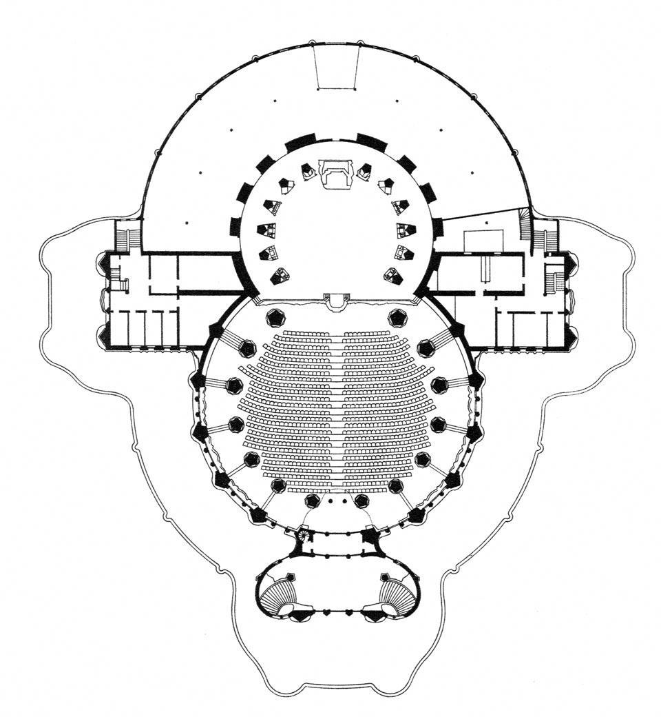 Plan of the First Goetheanum (1913-1921), Rudolf Steiner
