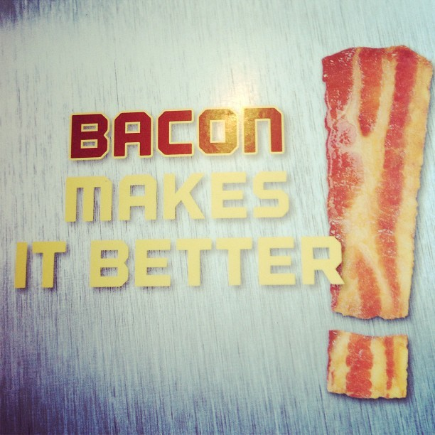 Bacon DOES make it better!! #bacon #denny's #breakfast