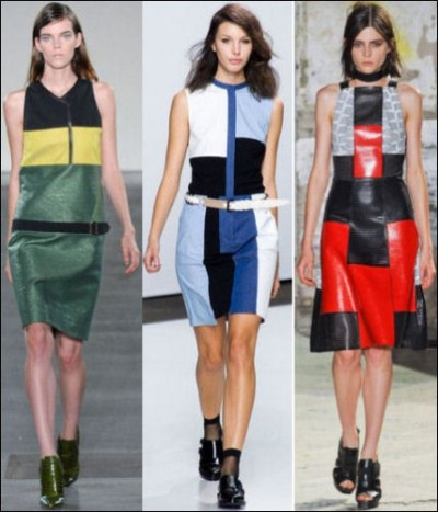 C is for COLORBLOCK || Left to Right: Derek Lam, 3.1 Phillip Lim, Proenza Schouler || #fashion #2013 trends #springtrends2013 #fashionweek