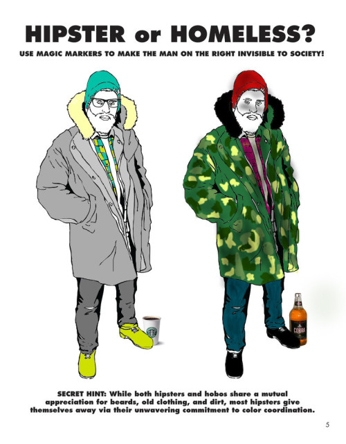 """Hipster or Homeless?"" fan art submission.Colored by: Reddit user THISisGOMedium: Computers Share it on Facebook See the original here"