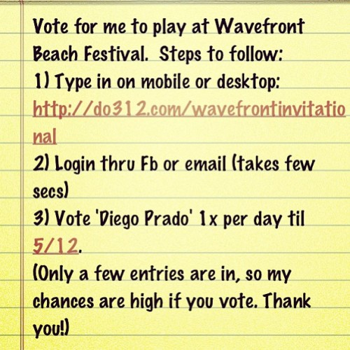 Vote for me #deephouse #wavefront #chicago #beachfestival #housemusic