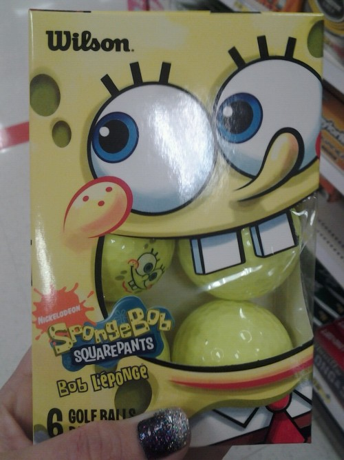 Spongebob likes balls in his mouth