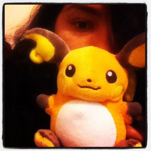 So this is a thing #ohglookhowcuteitis #itssoround #pokemon #raichu #pokedoll
