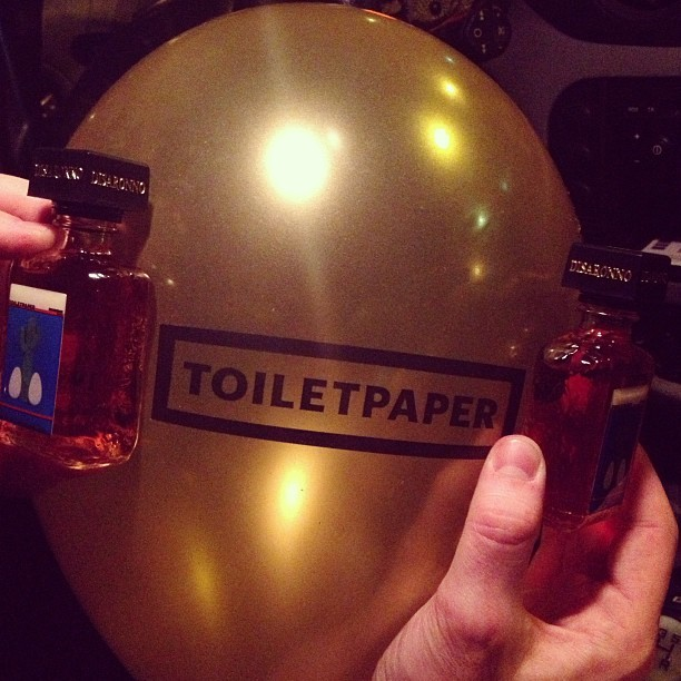 Tonight.. #fun #friends #loveit #love #amaretto #disaronno #toiletpaper #party #fashion #fashionweek #mfw #event